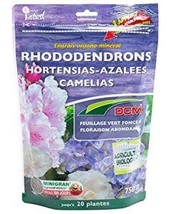 Engrais organique pour Rhododendrons, Hortensias, Azalées, Camélias